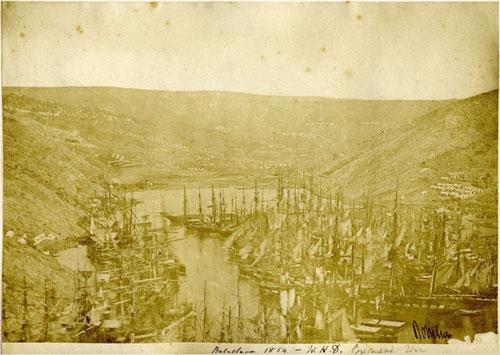 Английский флот в Балаклаве. Джеймс Робертсон, 1854 г.