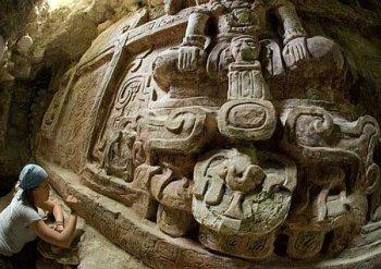 Огромный фриз майя найден в Гватемале