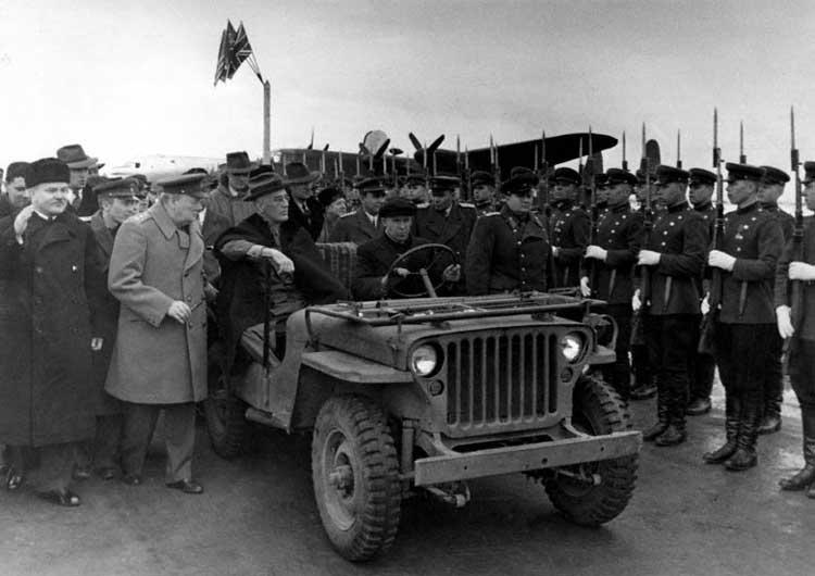 президент Рузвельт, Ялтинская конференция, 1945