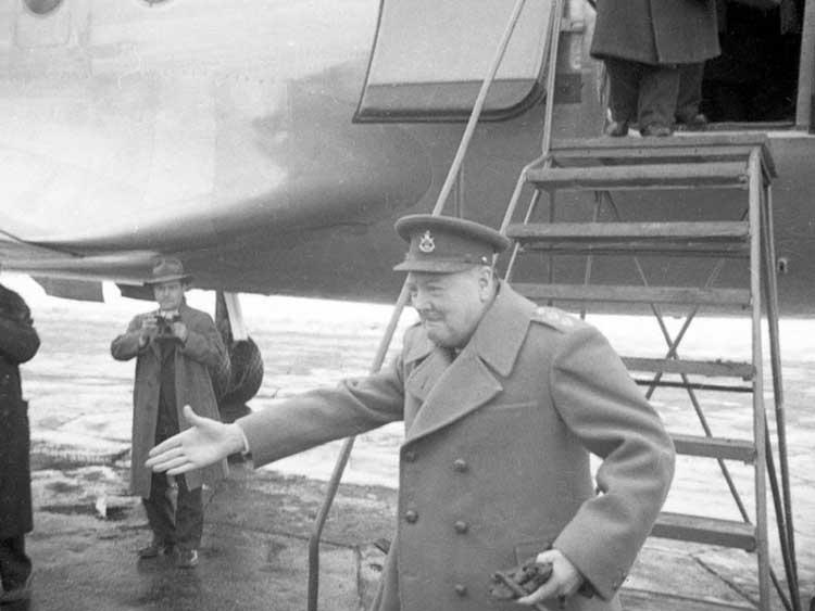Уинстон Черчилль, 1945, прибытие в Крым