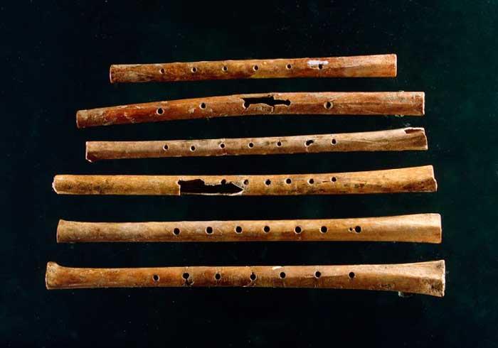 древние китайские флейты из костей журавля