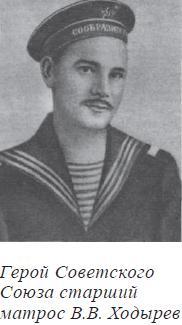 Герой Советского Союза старший матрос В.В. Ходырев