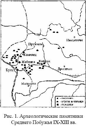 Археологические памятники Среднего Побужья IX-XIII вв.
