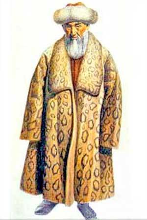 кыргыз в национальной одежде