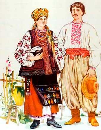 украинцы, национальная одежда