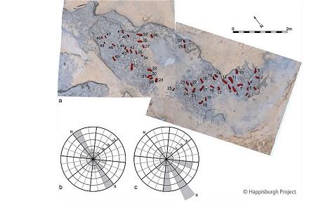 Карта расположения следов