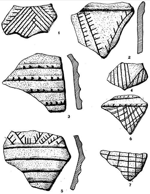 Керамика с поселения у д. Варенычевка из-под г. Змиева