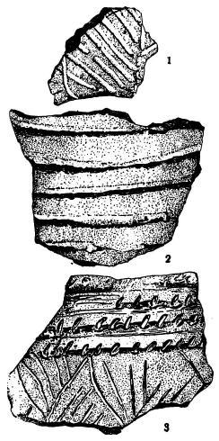 Керамика с Лоселения у д. Варенычевка из-под г. Змиева