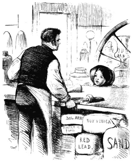 Карикатура на пищевые добавки. Журнал «Панч», 1858