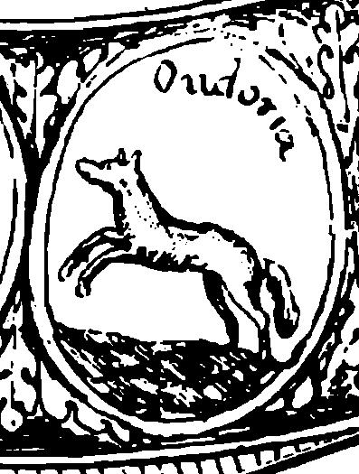 Герб Удоры = земель по реки Одер в Германии и Польше на Государственной печати Российской Империи XVII века