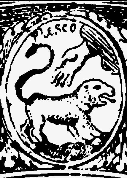 Герб Пскова = Пруссии на Государственной печати Российской Империи XVII века