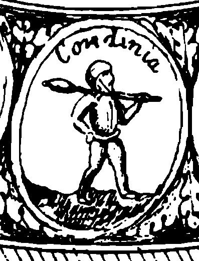 Герб Кандийского царства = острова Крит или Англии, на Государственной печати Российской Империи XVII века