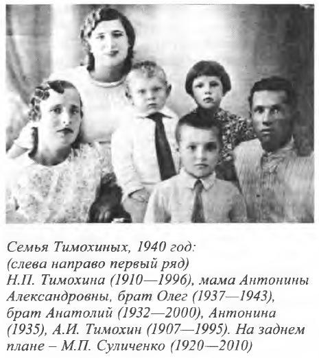 Семья Тимохиных, 1940 год