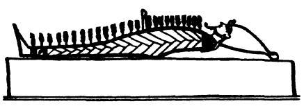 «Прорастающий» Осирис. Рисунок с виньетки из «Папируса Жумильяк»