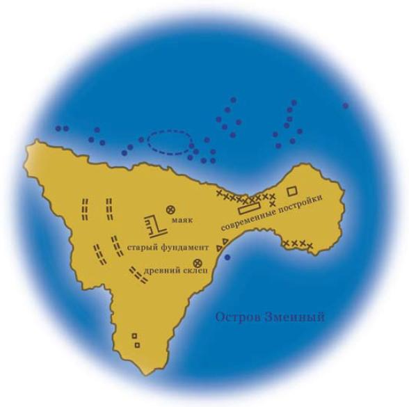 Карта-схема проведения подводных археологических исследований