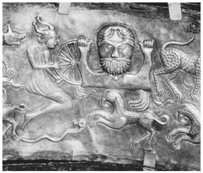 Таран – бог грома (с ритуального серебряного котла)