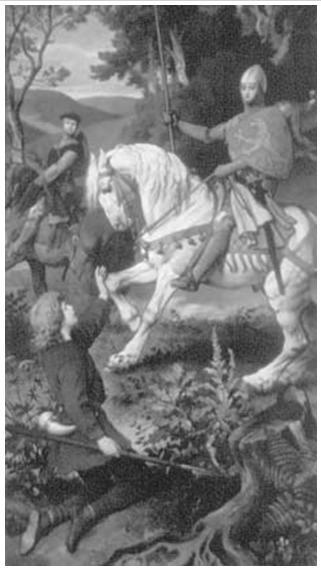 Рыцари (роспись из замка Нойшванштайн)