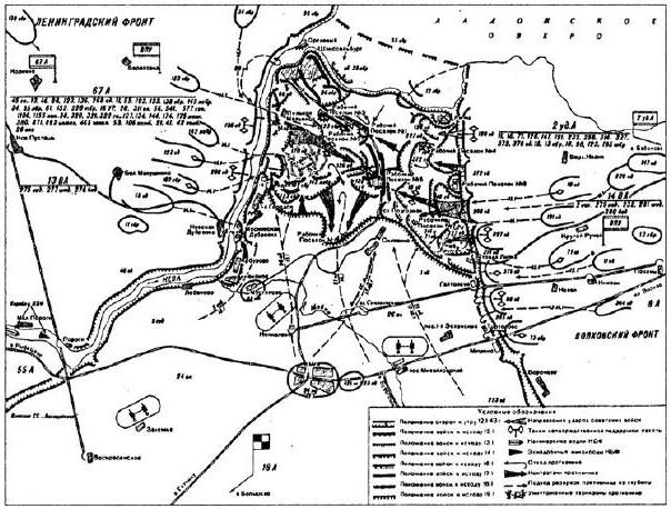 Действия советских и германских войск при проведении операции по прорыву блокады Ленинграда в январе 1943 года