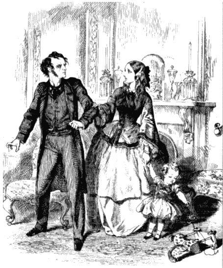Супружеская ссора. Иллюстрация Джона Тенниела к роману Шерли Брукса «Гордиев узел». 1860