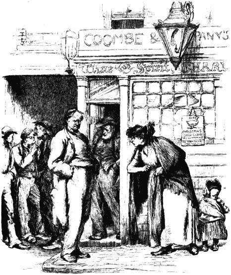 Сцена у кабака. Рисунок из «Английского иллюстрированного журнала». 1887