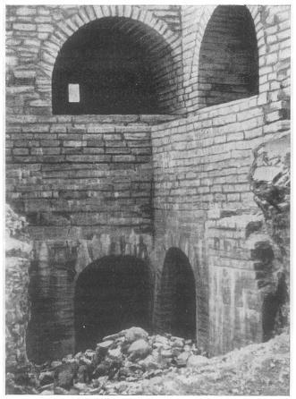 Внутренний вид Воротной башни Ладожской крепости. Конец XV— начало XVI в