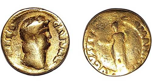 римская золотая монета