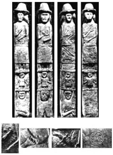 Четырехипостасный трехъярусный Збручский идол