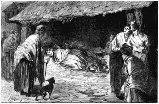 Проститутки в Уайтчапеле. Рисунок из журнала «Иллюстрированные лондонские новости». 1888
