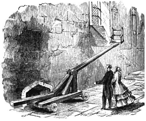 Стул для окунания в воду в Леоминстере, Херефордшир. Рисунок из книги Уильяма Эндрюса «Наказания былых времен». 1899