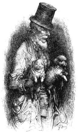 Подозрительный продавец собак. Рисунок Гюстава Доре из книги «Паломничество». 1877