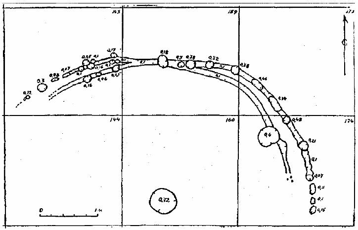 План святилища на городище Демидовка