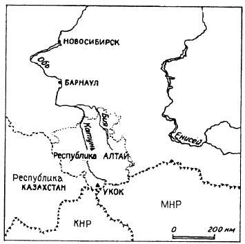 Месторасположение плато Укок