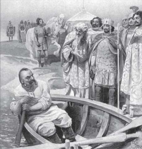Встреча киевского князя Святослава с византийским императором