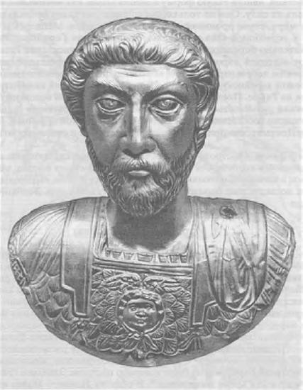Золотой бюст императора Марка Аврелия из Авентика