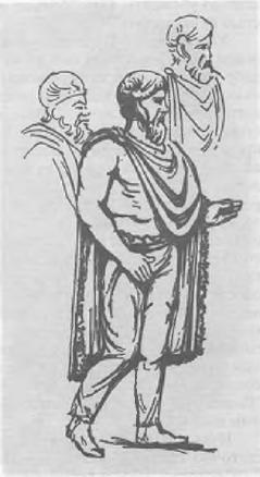 Знатный германец. Реконструкция с рельефа колонны Марка Аврелия в Риме