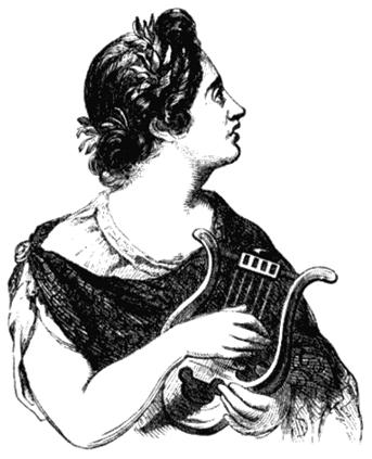 Сафо. Рисунок из книги «Всемирно известные женщины». 1881