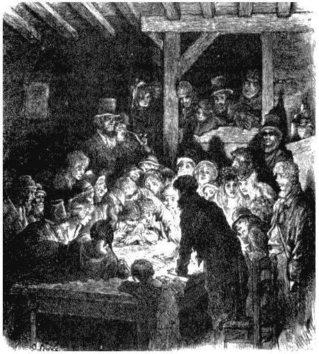 Проститутки в воровском притоне. Рисунок Гюстава Доре из книги «Паломничество». 1877