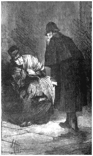 Полицейский и проститутка. Рисунок из журнала «Иллюстрированные лондонские новости». 1888