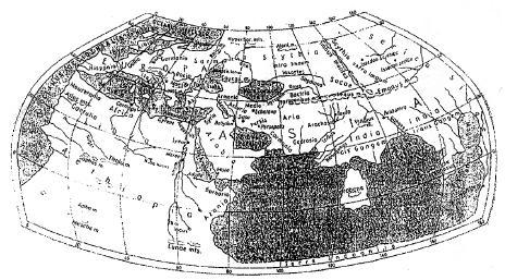 Карта Птолемея (II в н.э.).