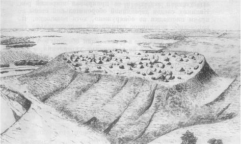 Восточнославянское укрепленное поселение IX в