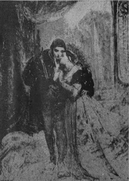 Барбара и Сигизмунд в Радзивилловском парке в Вильно Полотно Яна Матейки