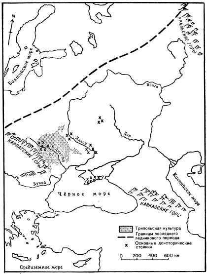Доисторические культуры и регионы их распространения