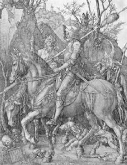 А. Дюрер. Рыцарь, дьявол и смерть
