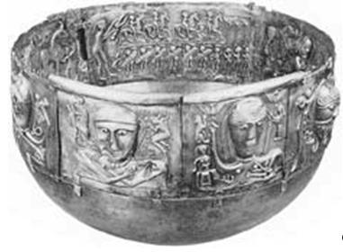 Серебряный кельтский ритуальный котел из Денмарка