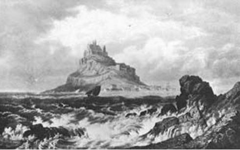 Гора Сан8209;Мишель (с картины Гастино, XIX в.)