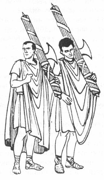 Ликторы. Прорисовка с колонны Марка Аврелия