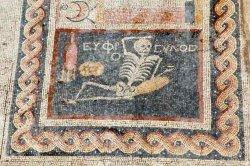 """«Будь весел, живи своей жизнью: древний мозаичный """"мем"""" нашли на юге Турции"""