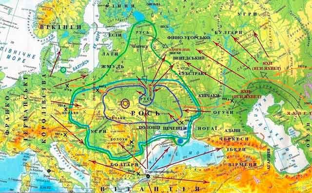 Славянский мир и государство Рось на рубеже 10-11 веков н. э.