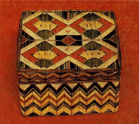 Плетеная шкатулка микмак