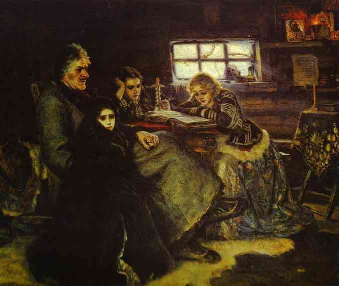 В.И. Суриков. Меншиков в Берёзове. 1883.